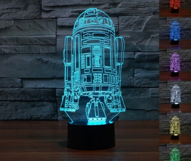 3D Star Wars  Color Change Touch Button LED