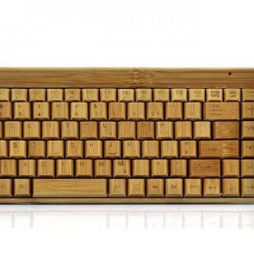 Handcrafted Bamboo Keyboard